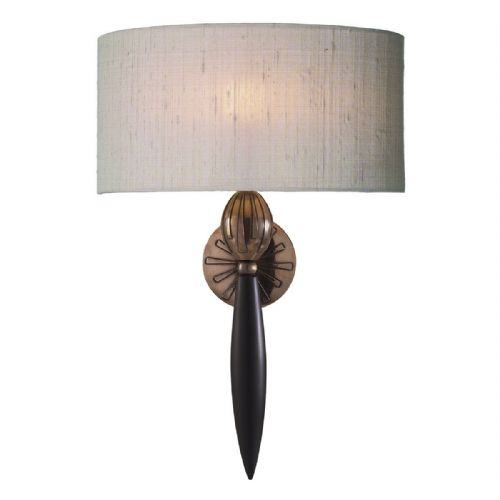 Contour Wall Light Black Bronze complete with S0299 Silk Shade (Specify Colour) CON0799